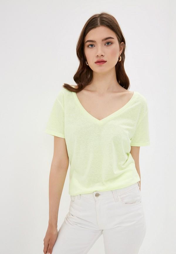 Фото - женскую футболку Q/S designed by желтого цвета