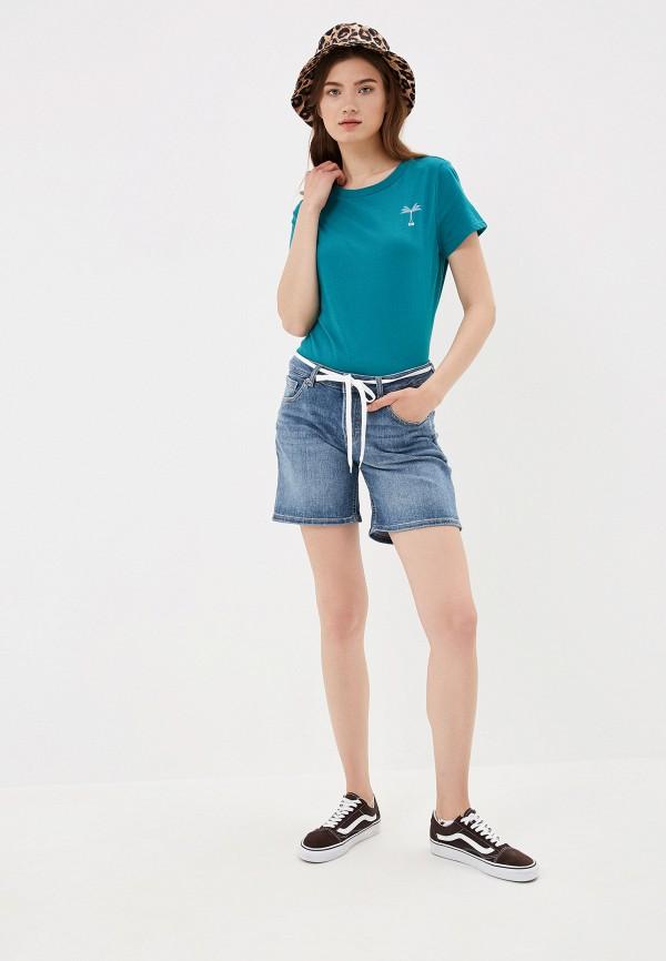 Фото 2 - Шорты джинсовые Q/S designed by синего цвета
