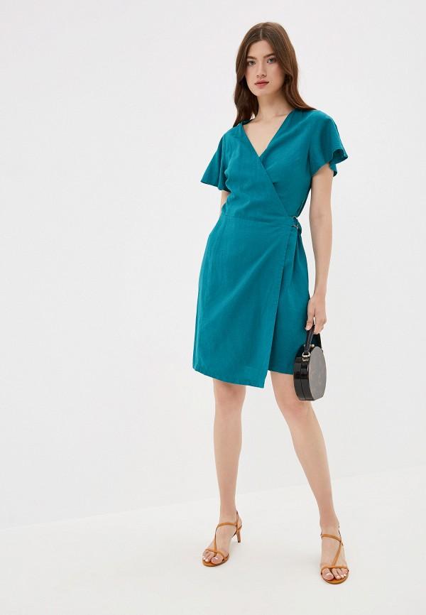 Фото 2 - женское платье Q/S designed by бирюзового цвета
