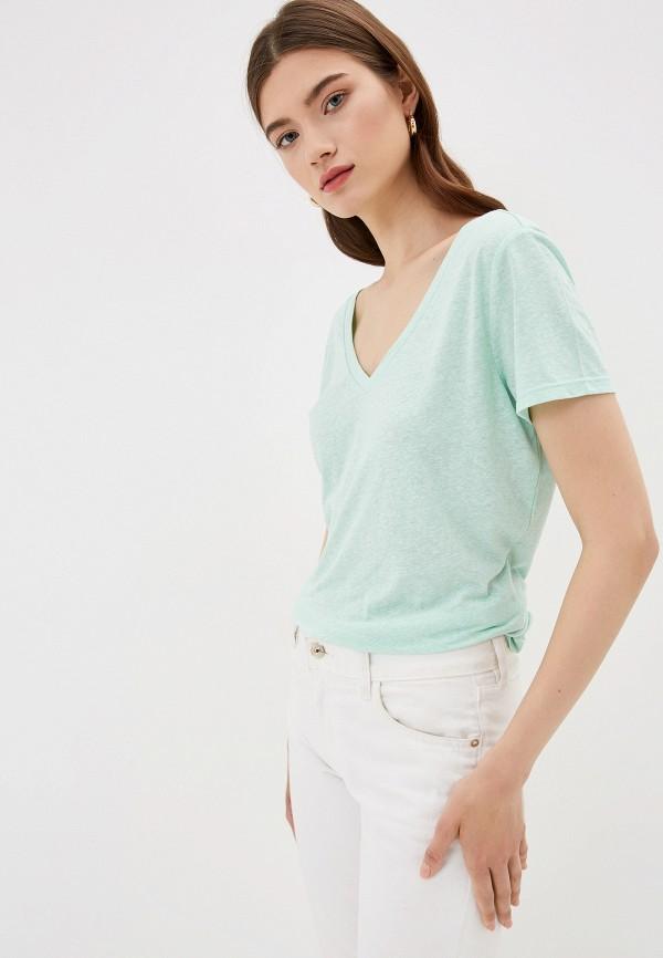 Фото - женскую футболку Q/S designed by бирюзового цвета