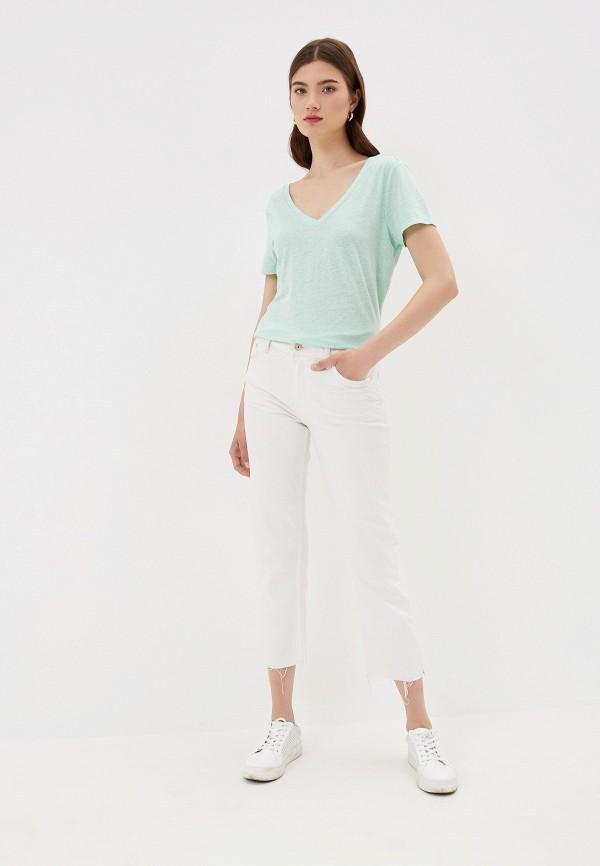 Фото 2 - женскую футболку Q/S designed by бирюзового цвета
