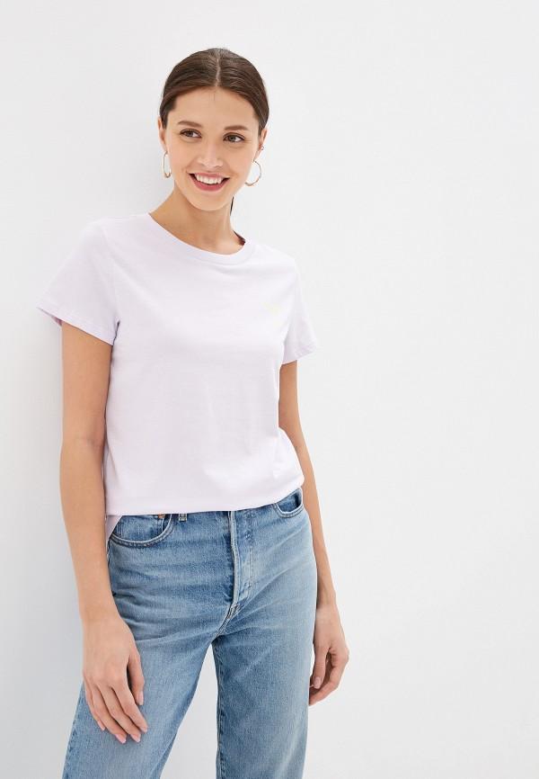 женская футболка q/s designed by, фиолетовая