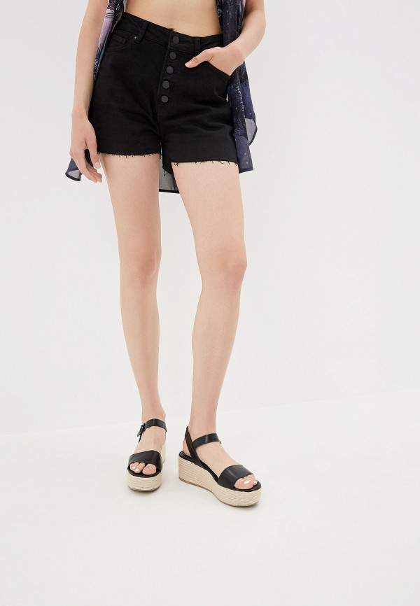Купить Шорты джинсовые Q/S designed by черного цвета