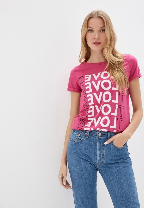 женская футболка q/s designed by, розовая