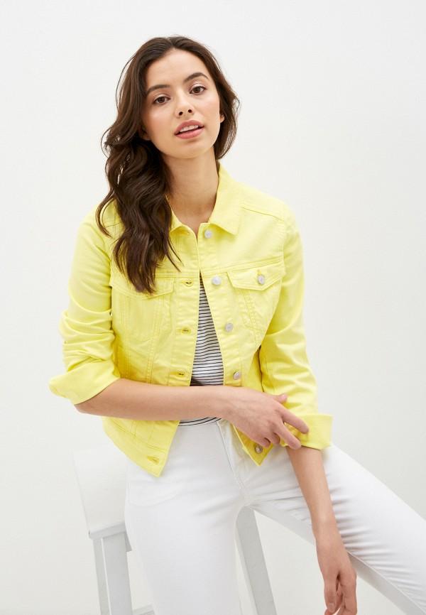 женская джинсовые куртка q/s designed by, зеленая