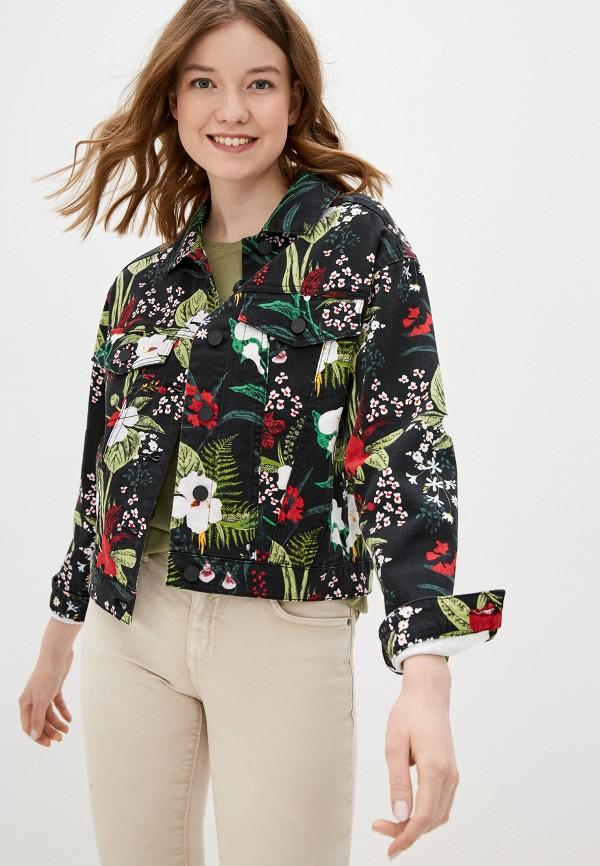 женская джинсовые куртка q/s designed by, черная