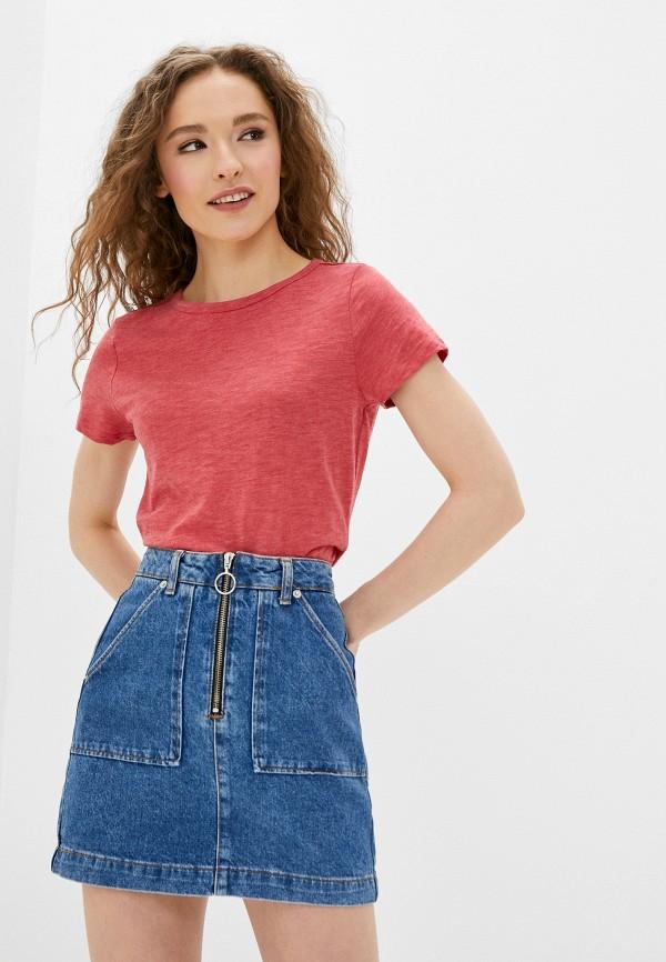 женская футболка q/s designed by, красная
