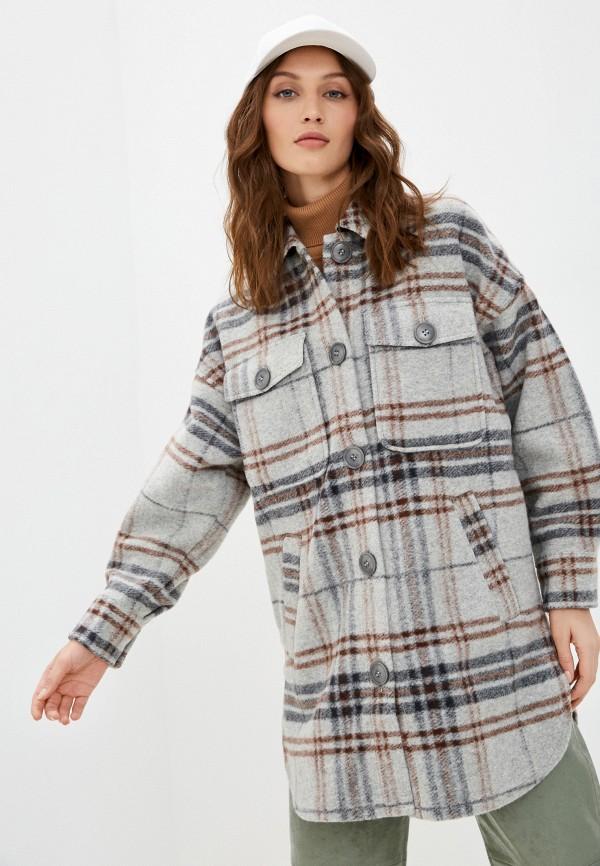 женское пальто q/s designed by, серое