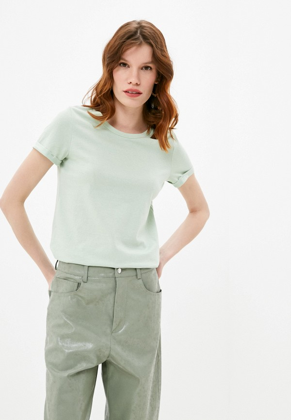 женская футболка q/s designed by, зеленая