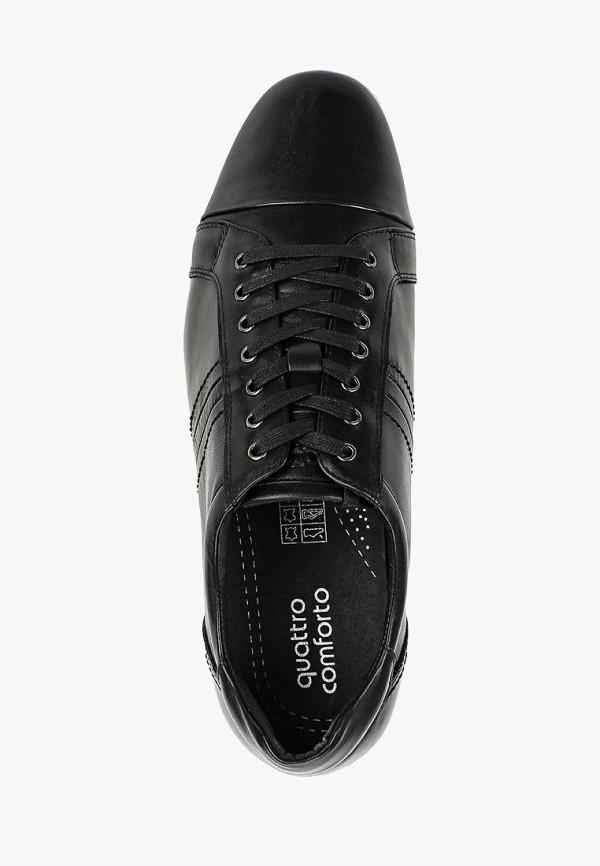Фото 4 - мужские ботинки и полуботинки Quattrocomforto черного цвета