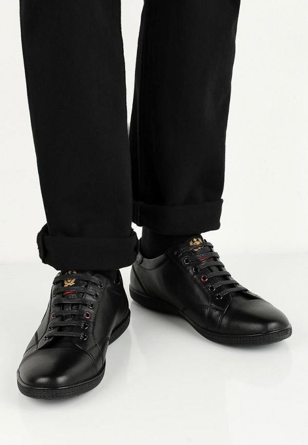 Фото 5 - мужские кеды Quattrocomforto черного цвета