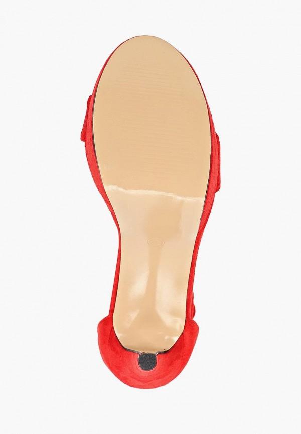 Фото 5 - женские босоножки Queen Vivi красного цвета