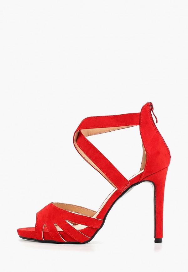 женские босоножки queen vivi, красные