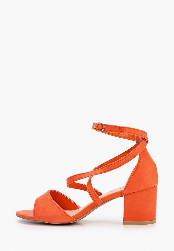 женские босоножки queen vivi, оранжевые