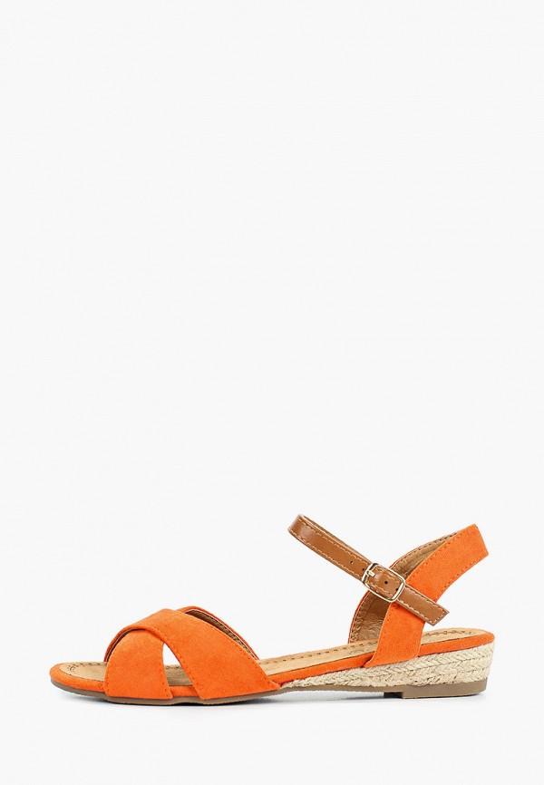 женские сандалии queen vivi, оранжевые