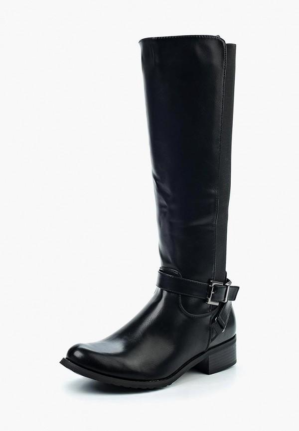 Фото - женские сапоги Queen Vivi черного цвета