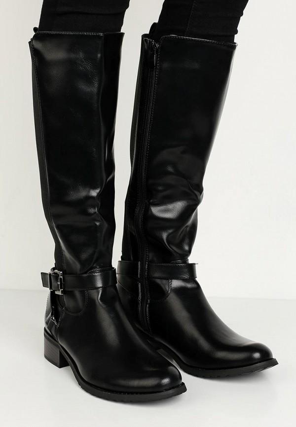 Фото 6 - женские сапоги Queen Vivi черного цвета