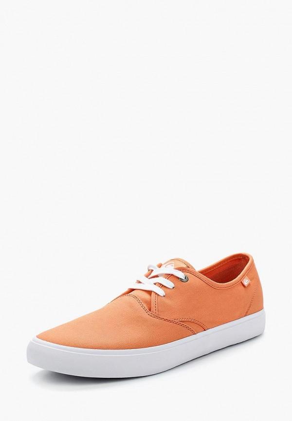 мужские кеды quiksilver, оранжевые