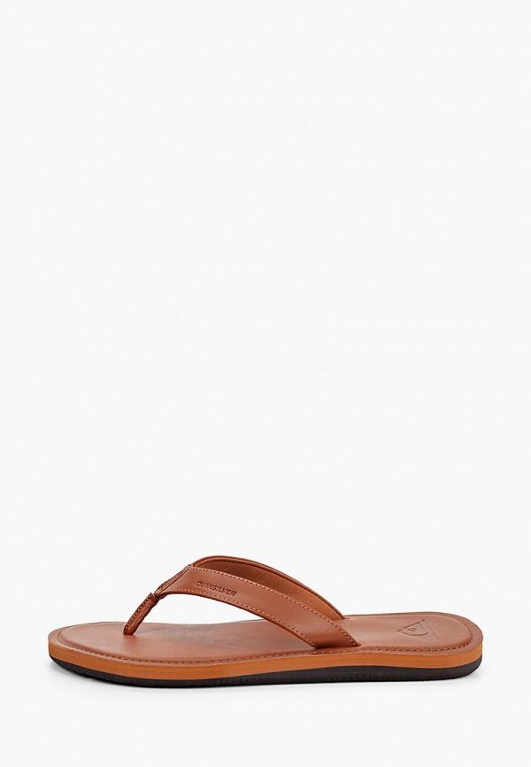 мужские сандалии quiksilver, коричневые