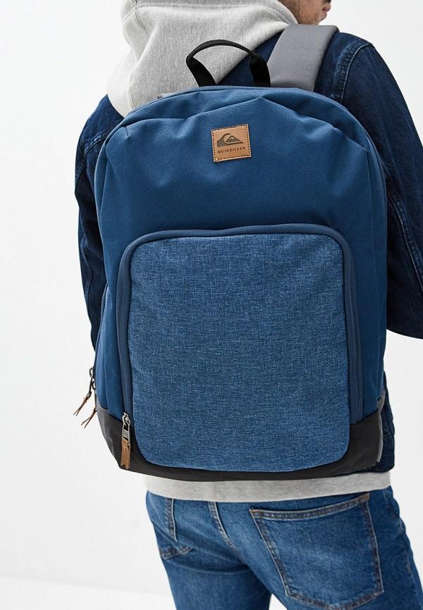 Фото 4 - мужской рюкзак Quiksilver синего цвета