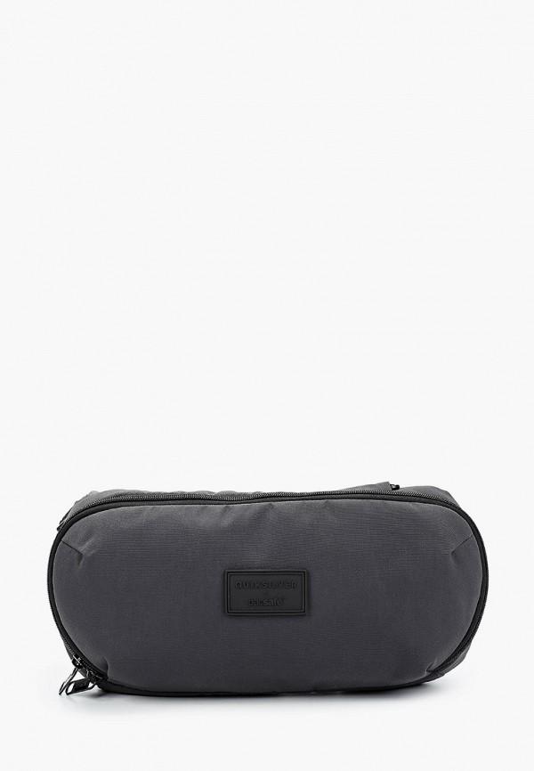 мужская поясные сумка quiksilver, серая