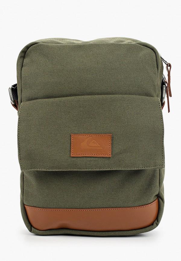 мужская сумка через плечо quiksilver, хаки