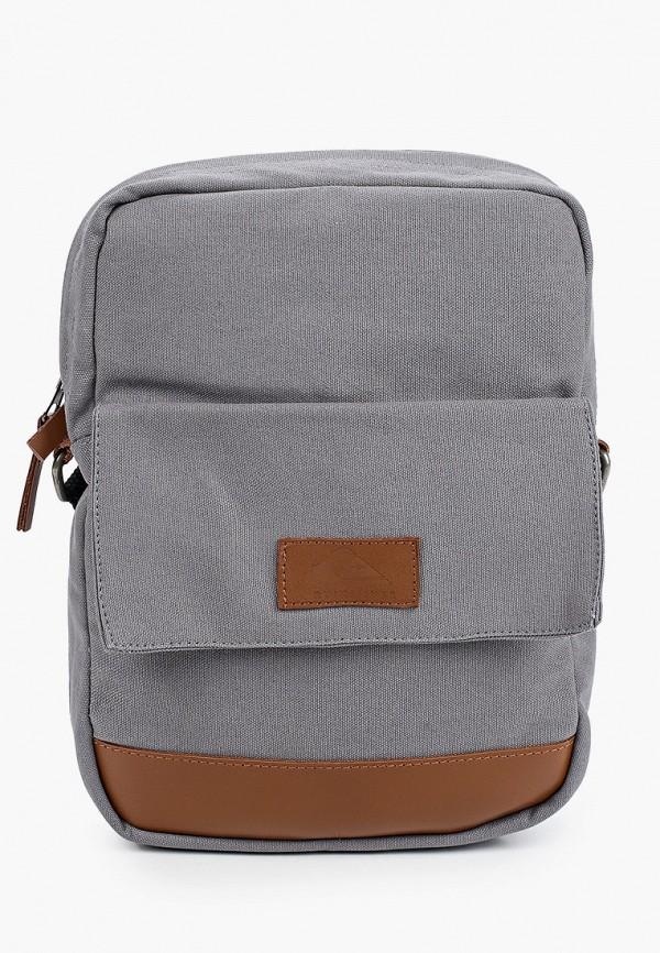 мужская сумка через плечо quiksilver, серая