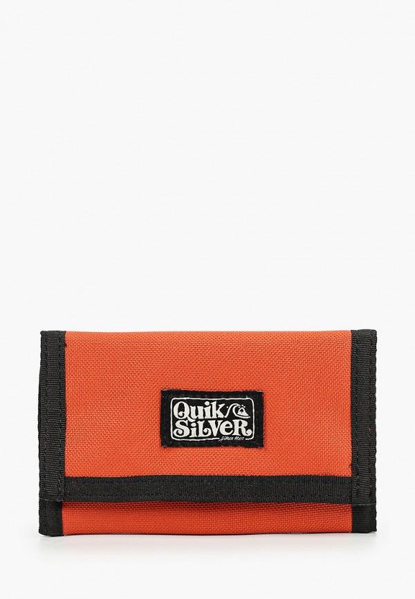 мужской кошелёк quiksilver, оранжевый