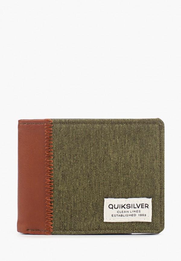мужской кошелёк quiksilver, зеленый