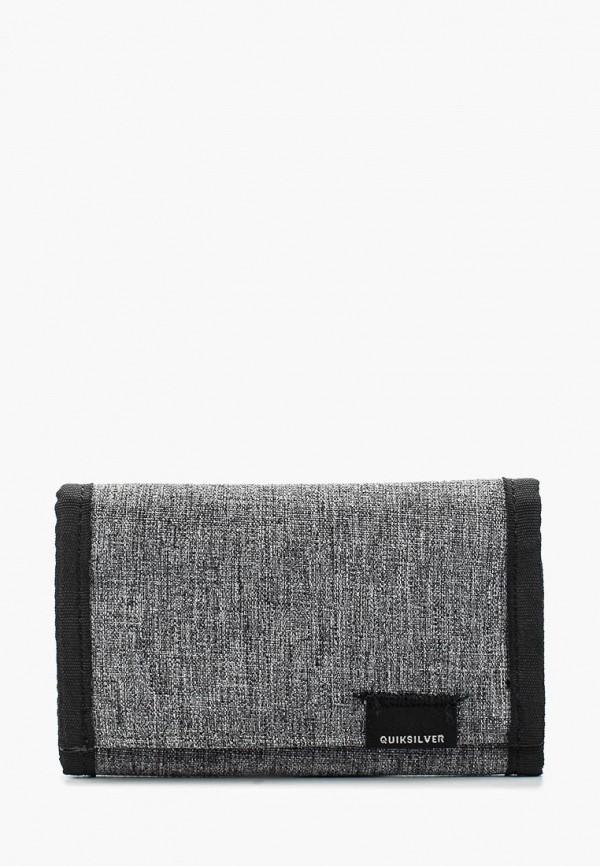 мужской кошелёк quiksilver, серый