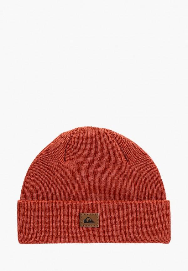 мужская шапка quiksilver, оранжевая