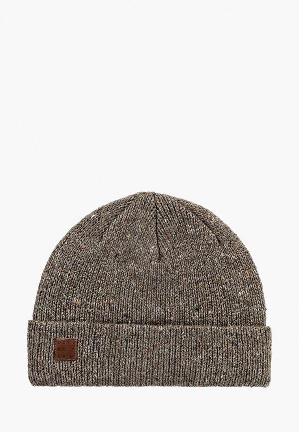 мужская шапка quiksilver, бежевая