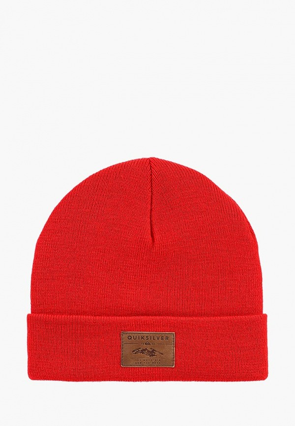 мужская шапка quiksilver, красная