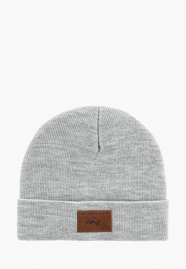 мужская шапка quiksilver, серая