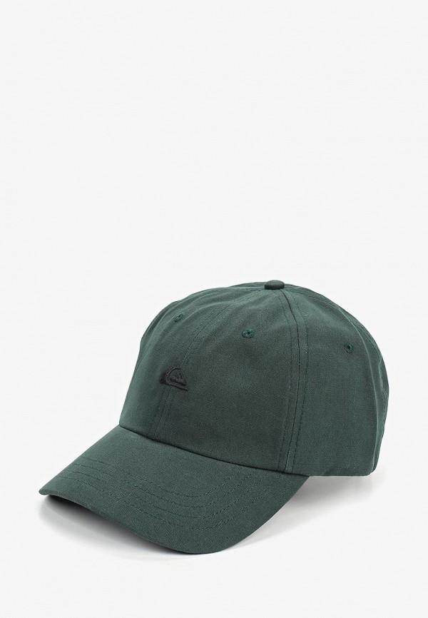 мужская бейсболка quiksilver, зеленая