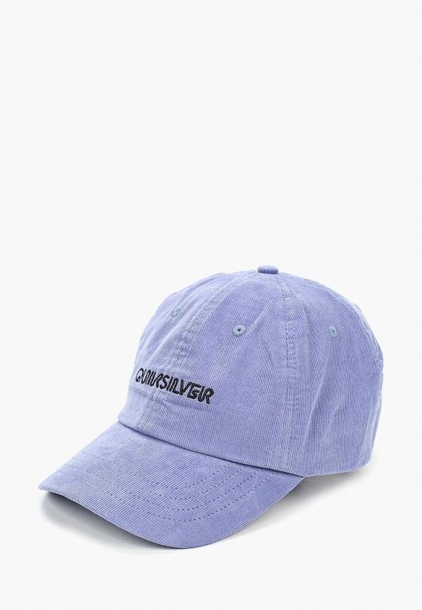 мужская бейсболка quiksilver, фиолетовая