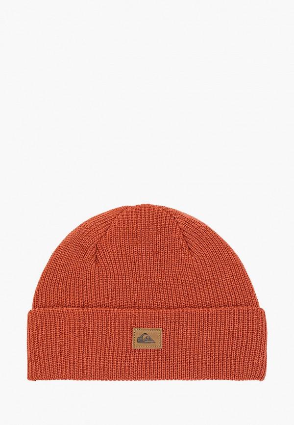 мужская шапка quiksilver, коричневая