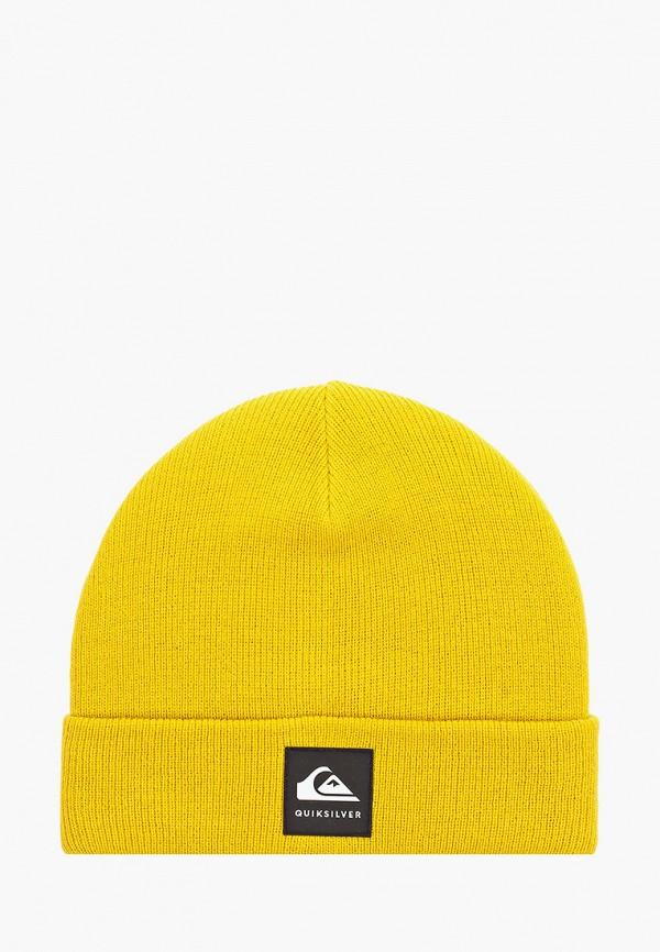 мужская шапка quiksilver, желтая