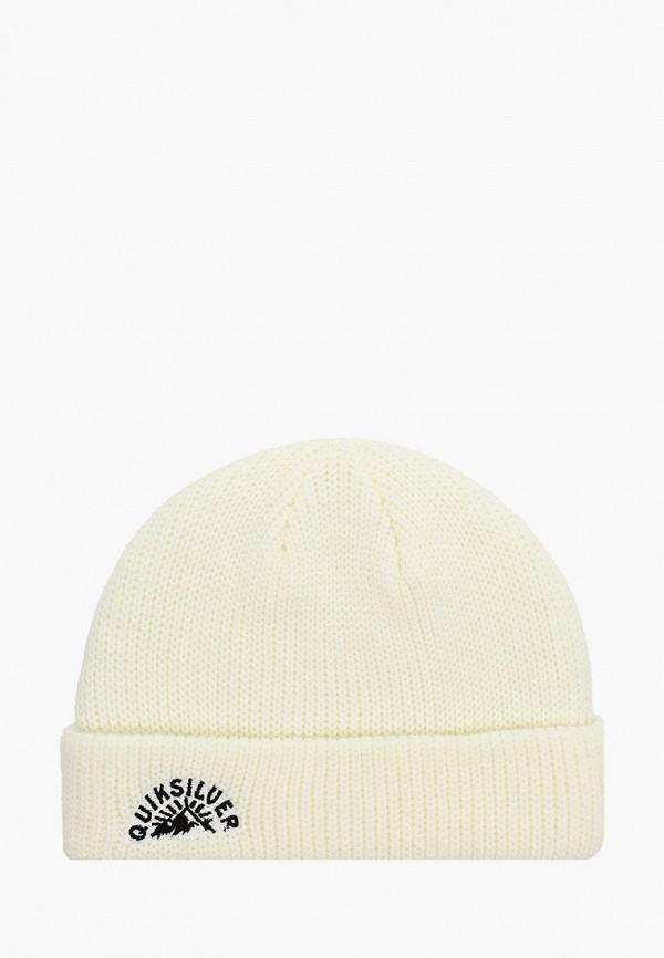 мужская шапка quiksilver, белая