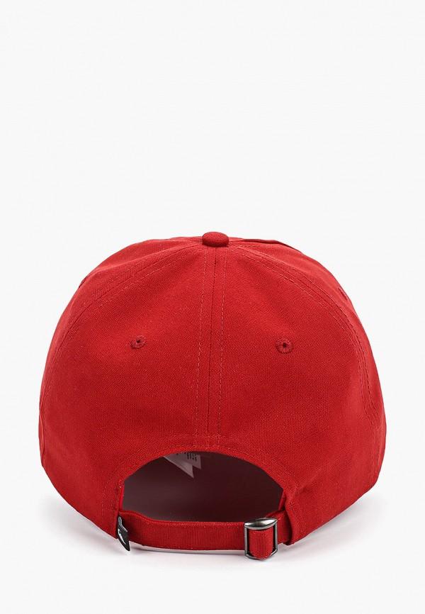 Фото 2 - мужскую бейсболку Quiksilver красного цвета