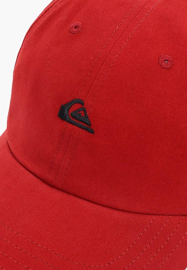 Фото 3 - мужскую бейсболку Quiksilver красного цвета