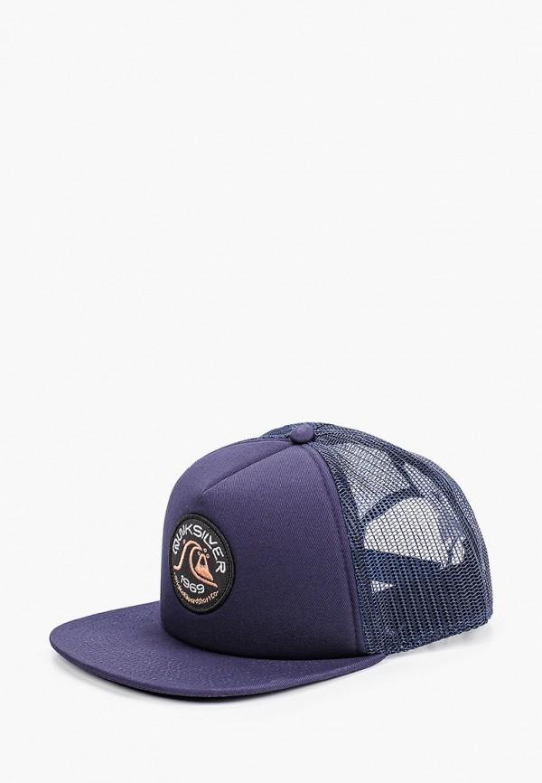 мужская бейсболка quiksilver, синяя