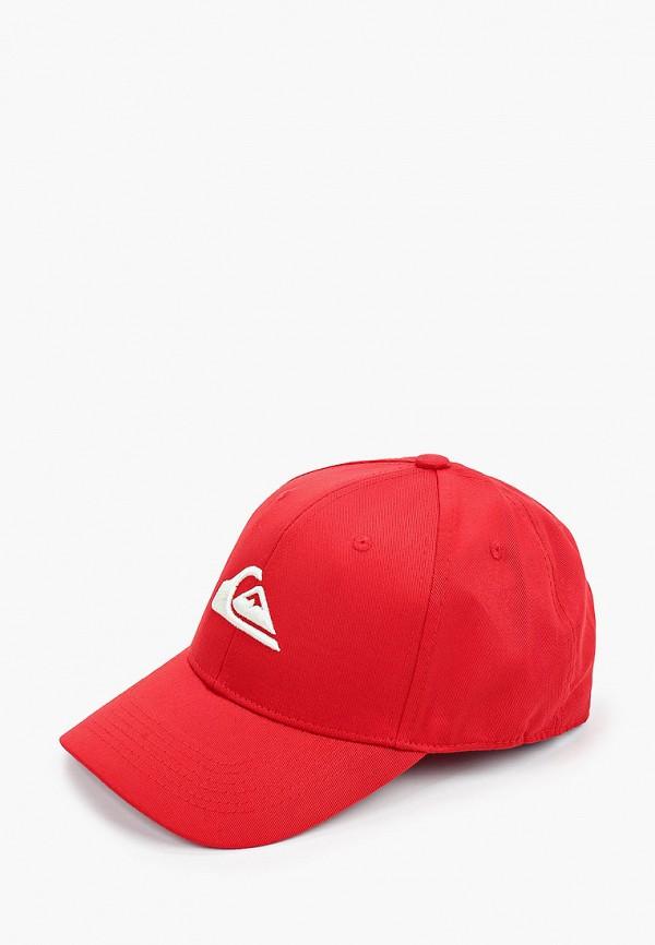 мужская бейсболка quiksilver, красная