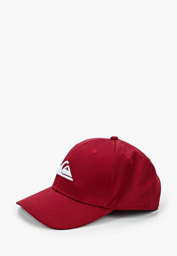 мужская бейсболка quiksilver, бордовая