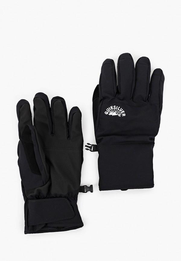 мужские текстильные перчатки quiksilver, черные