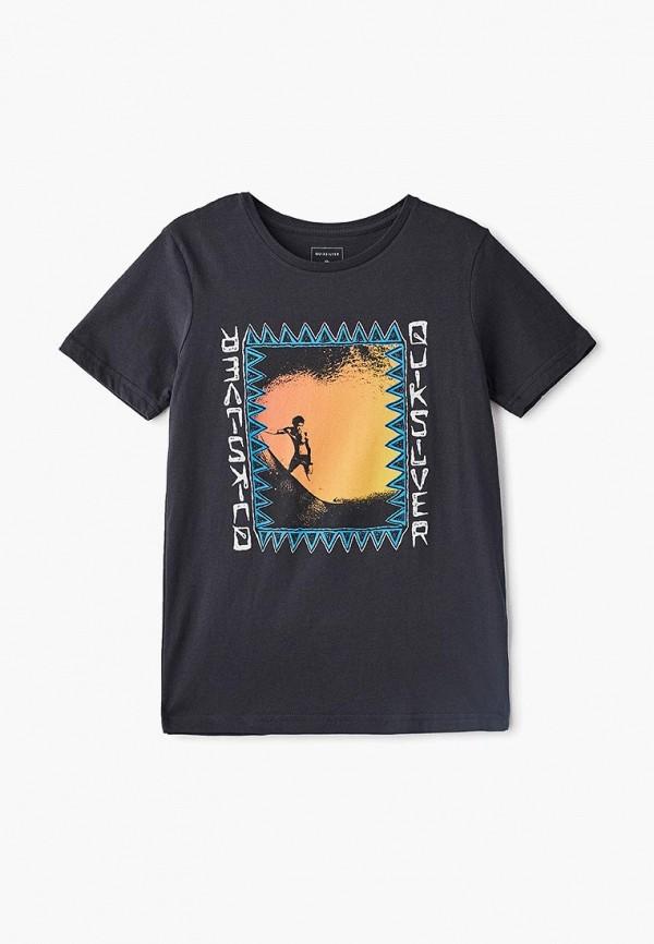 футболка quiksilver для мальчика, черная