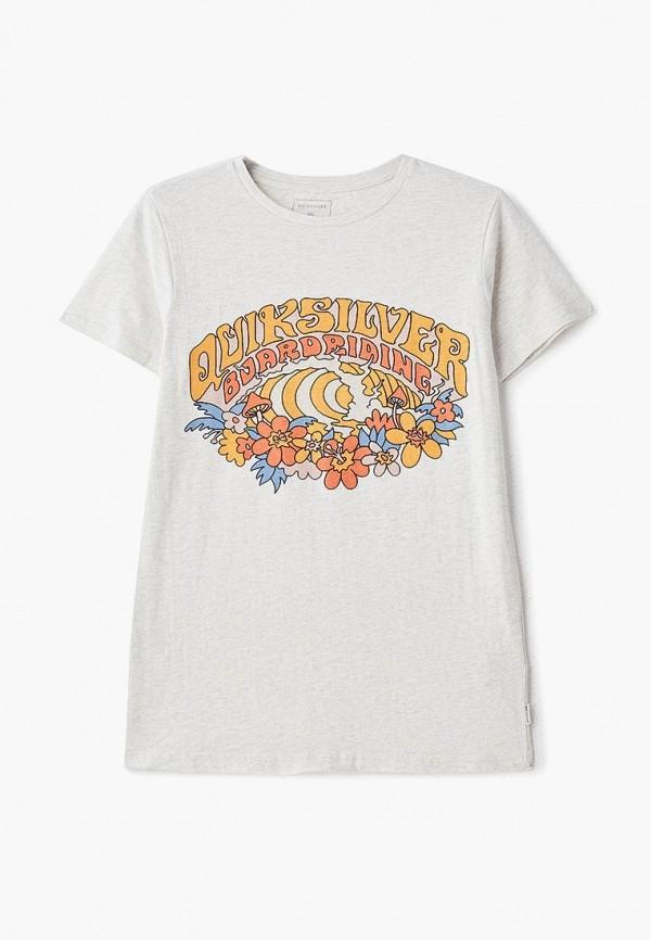 футболка quiksilver для мальчика, серая
