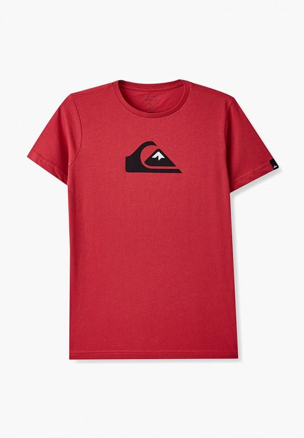 футболка quiksilver для мальчика, красная