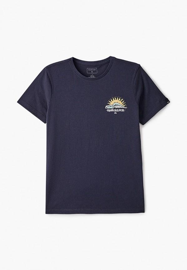 футболка quiksilver для мальчика, синяя