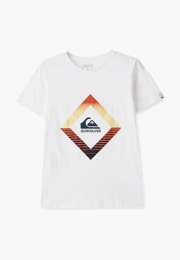 футболка quiksilver для мальчика, белая